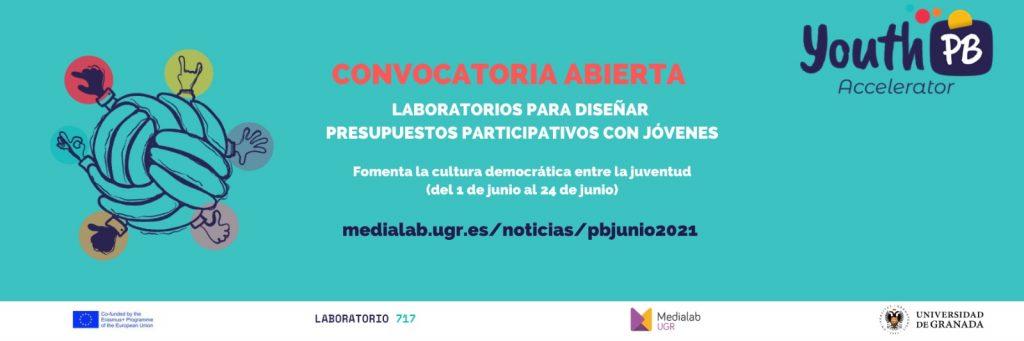 Convocatoria abierta de laboratorios para diseñar presupuestos participativos con jóvenes