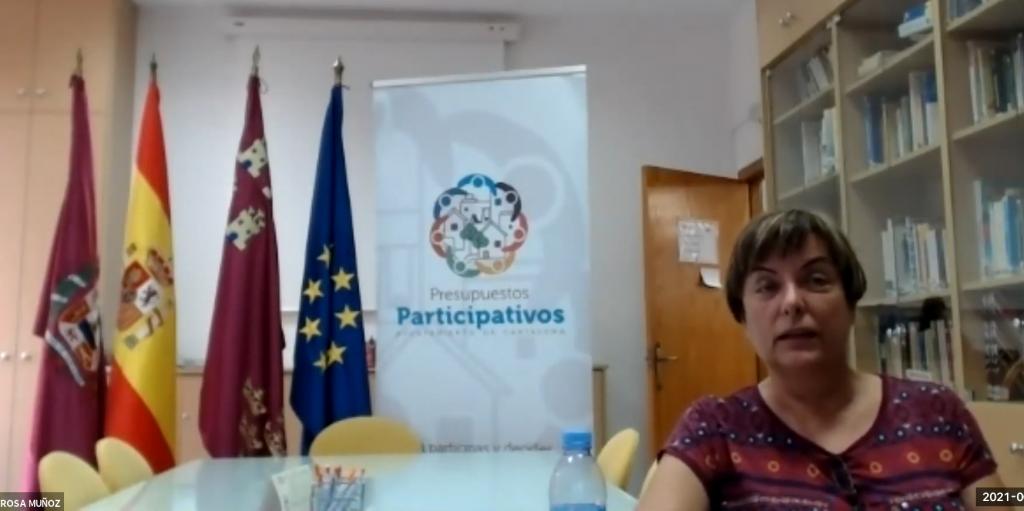 Charla con Rosa Muñoz, Técnico de Participación Ciudadana del Ayuntamiento de Cartagena